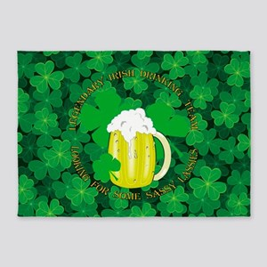 Legendary Irish Drinking Team 5'x7'Area Rug
