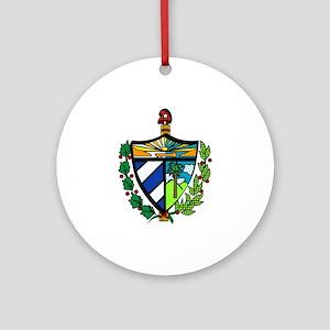 Escudo Cubano Moderno Ornament (Round)