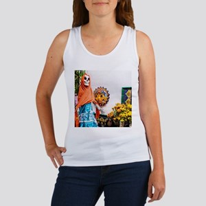 Day of the Dead Altar with Skeleton Lady Tank Top