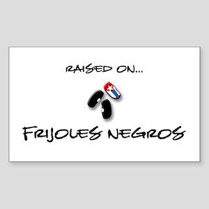 Raised on... Frijoles Negros Rectangle Sticker