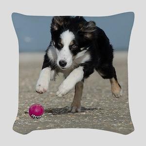 BEACH DOGS Woven Throw Pillow