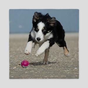 BEACH DOGS Queen Duvet