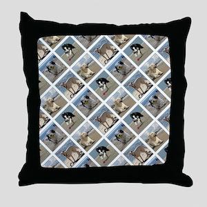 BEACH DOGS Throw Pillow