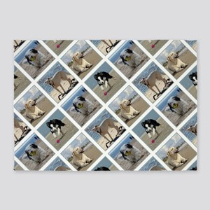 BEACH DOGS 5'x7'Area Rug