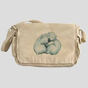 Polar Bear Cubs Messenger Bag