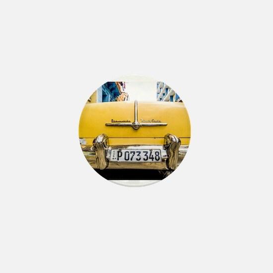 Vintage car Havana Cuba Mini Button