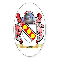 Piscot Sticker (Oval 10 pk)