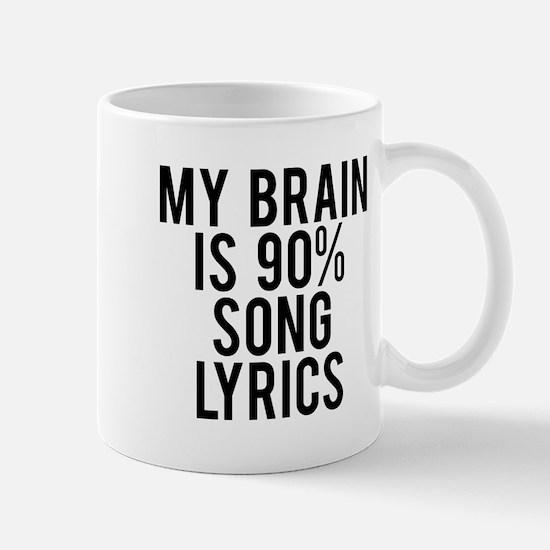My brain is 90% song lyrics Mug