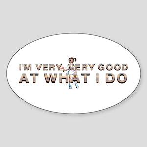 Good Waitress Sticker (Oval)