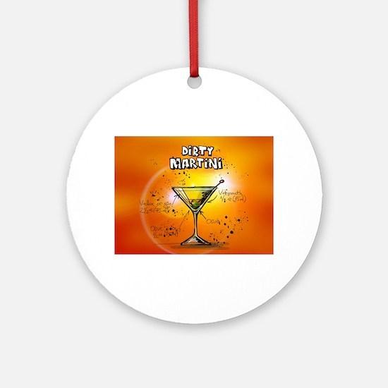 Dirty Martini (Orange) Round Ornament