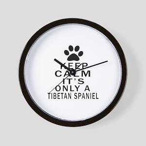 Keep Calm And Tibetan Spaniel Wall Clock