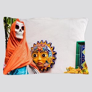 Day of the Dead Altar with Skeleton La Pillow Case