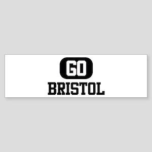GO BRISTOL Bumper Sticker
