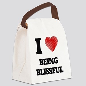 I Love BEING BLISSFUL Canvas Lunch Bag