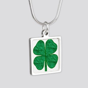 glitter shamrock Necklaces
