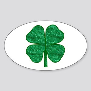 glitter shamrock Sticker