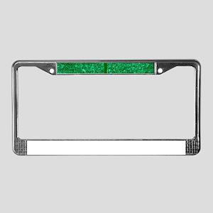 glitter shamrock License Plate Frame