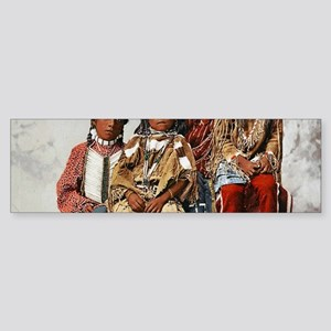 Vintage Native American Children Bumper Sticker