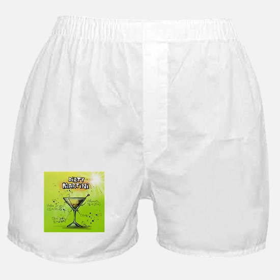 Dirty Martini (Green) Boxer Shorts