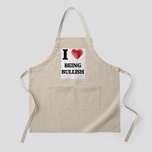 I Love BEING BULLISH Apron