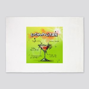 Cosmopolitan (Green) 5'x7'Area Rug