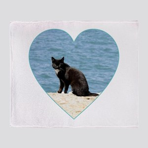 BEACH CAT Throw Blanket