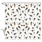 Big Mess of Cicadas Shower Curtain