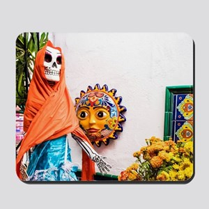 Day of the Dead Altar with Skeleton Lady Mousepad