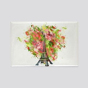 eiffel Tower Green Rose Colored Magnets