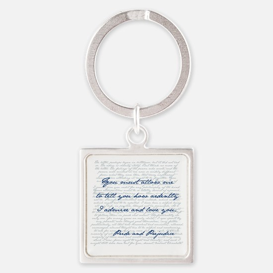Funny Darcy Square Keychain