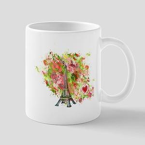 eiffel tower got heart Mugs