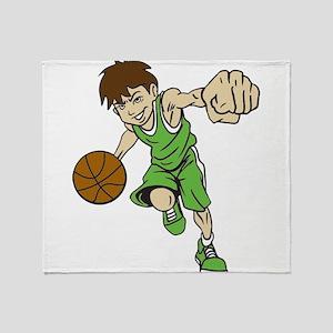 BASKET BOY GREEN Throw Blanket