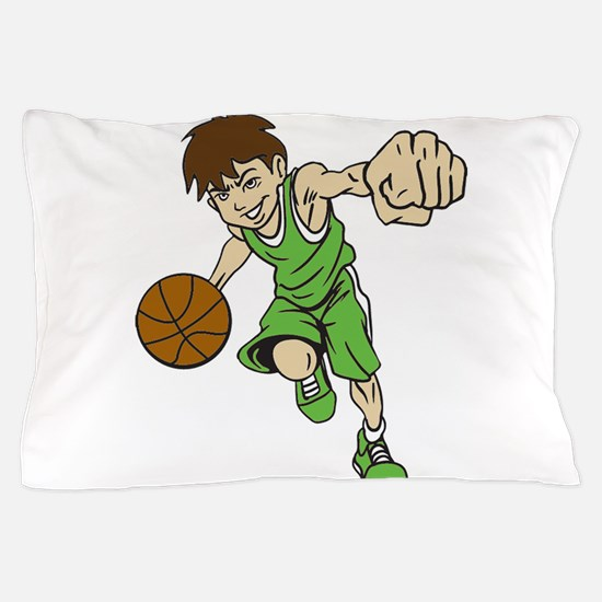 BASKET BOY GREEN Pillow Case