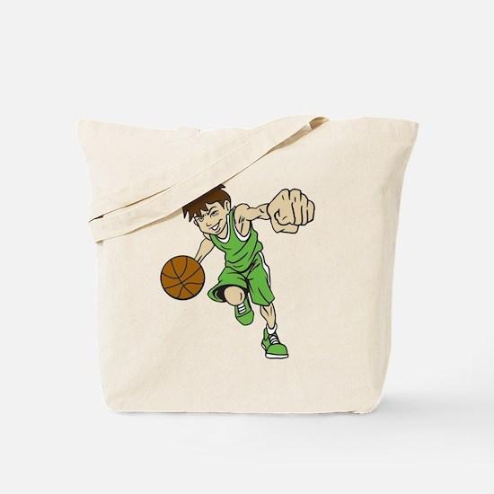 BASKET BOY GREEN Tote Bag
