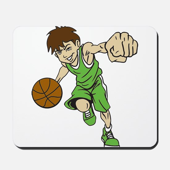 BASKET BOY GREEN Mousepad