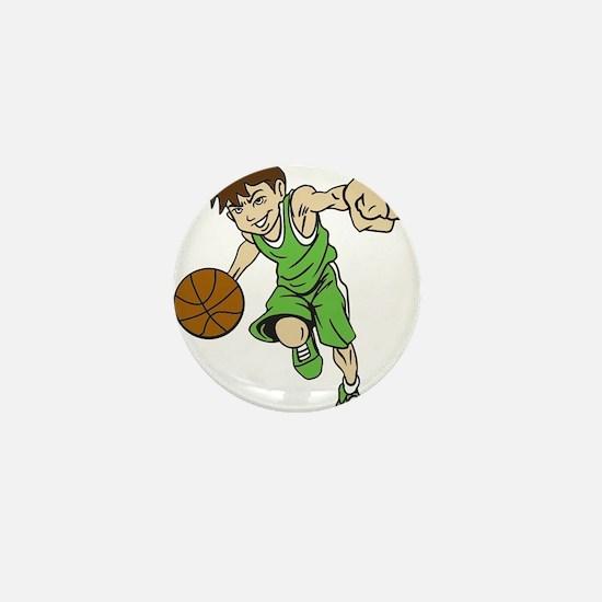 BASKET BOY GREEN Mini Button