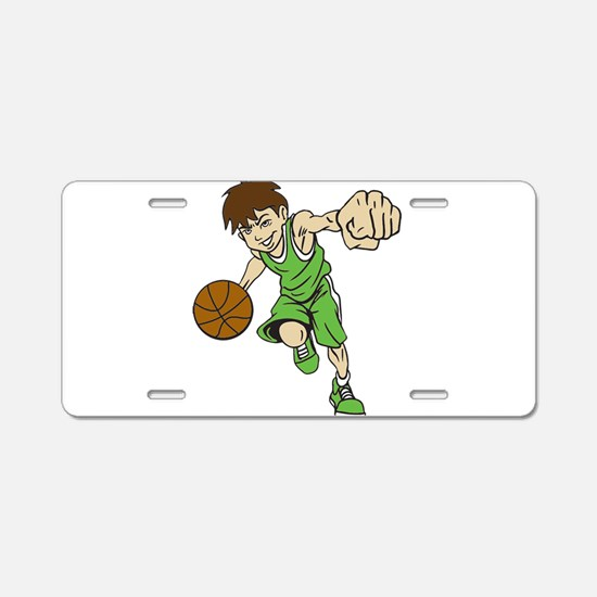 BASKET BOY GREEN Aluminum License Plate