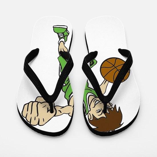 BASKET BOY GREEN Flip Flops