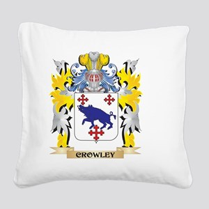 Crowley Coat of Arms - Family Square Canvas Pillow