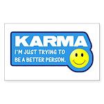 Karma Rectangle Sticker