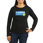 Karma Women's Long Sleeve Dark T-Shirt