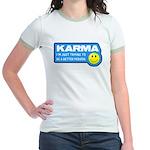 Karma Jr. Ringer T-Shirt