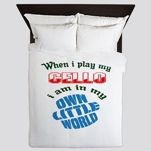 When i play my cello I'm in my own lit Queen Duvet