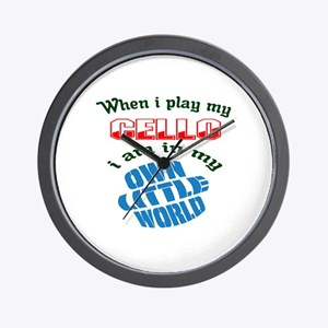 When i play my cello I'm in my own litt Wall Clock