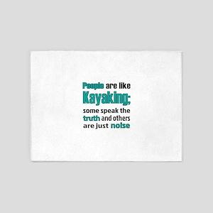 People are like Kayaking 5'x7'Area Rug