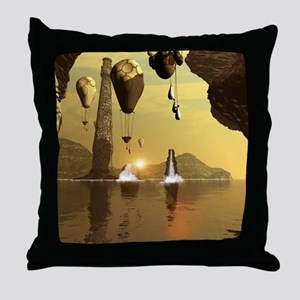 Awesome zeppelin Throw Pillow