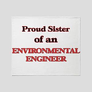 Proud Sister of a Environmental Engi Throw Blanket