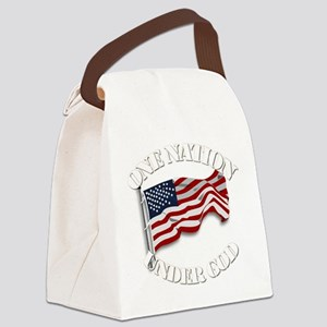 On Nation Under God Canvas Lunch Bag