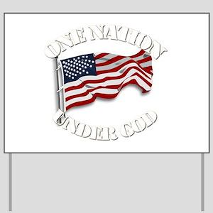 On Nation Under God Yard Sign