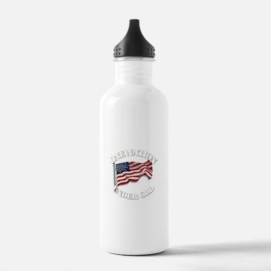 On Nation Under God Water Bottle